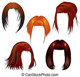 ha regolato capelli, styling