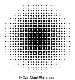 half-tone, punti, monocromatico, cerchi, halftone, pattern.