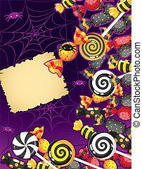 halloween, caramella, scheda