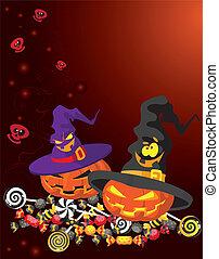 halloween, scheda, zucca