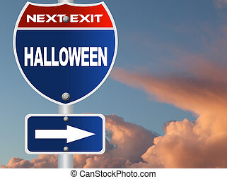 halloween, segno strada