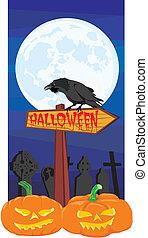 halloween, -, signpost, corvino
