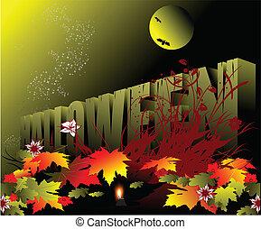 halloween, vacanza, celebrato, -
