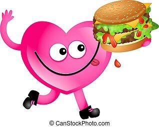 hamburger, amore