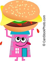 hamburger, casa