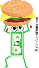 hamburger, dollaro
