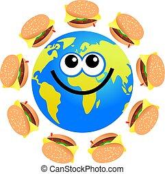 hamburger, globo