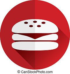 hamburger, icona