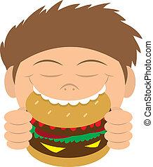 hamburger, mangiare, capretto