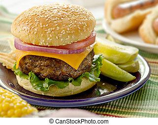 hamburger, pasto