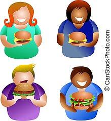 hamburger, persone