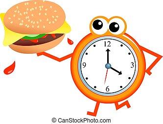 hamburger, tempo