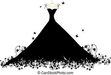 hander, vestire, vettore, nero, illustrazione