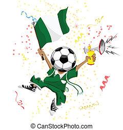 head., nigeria, palla, ventilatore, calcio