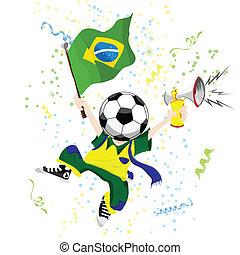 head., palla calcio, ventilatore, brasiliano