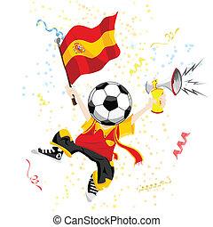 head., palla calcio, ventilatore, spagna