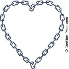 heart., catena argento
