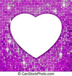 heart., viola, cornice, eps, forma, 8