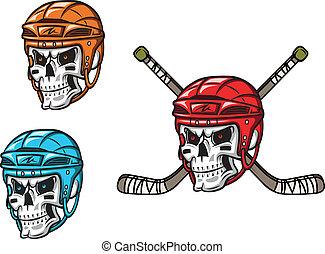 hockey, cranio, ghiaccio, amunition