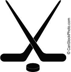 hockey, ghiaccio, icona