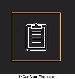 holder., semplice, carta, vettore, disegno, pixel, icona