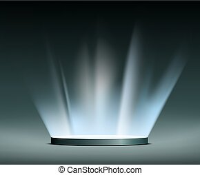 hologram., raggi, light.