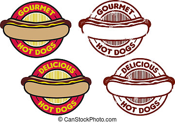 hot dog, grafica