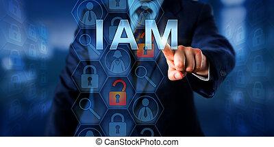 iam, accesso, direttore, spinta, identità