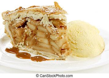icecream, torta mela