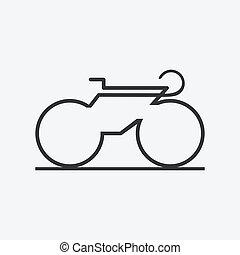 icon., bicicletta, minimalistic