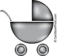 icon., carrozzina, segno