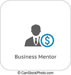 icon., concept., affari, mentore
