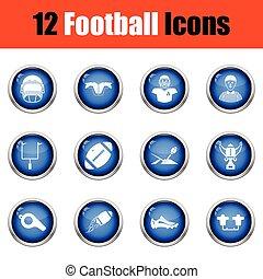 icon., football, americano