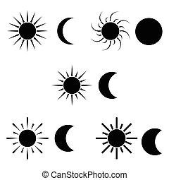 icon., luna, sole