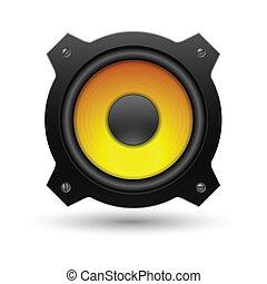 icon., vettore, altoparlante, illustration.