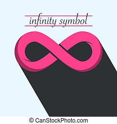 icon., vettore, infinità, simbolo., infinito