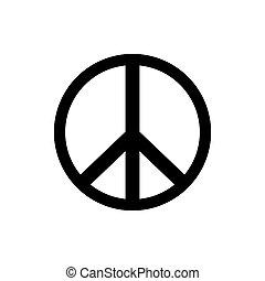 icon., vettore, segno pace