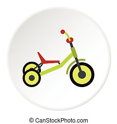icona, appartamento, stile, triciclo