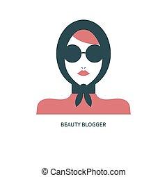 icona, blogger, moda