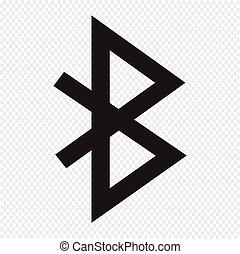 icona, bluetooth, segno