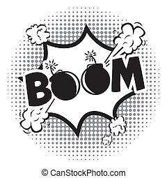 icona, boom, comics