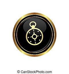 icona, bottone, bussola