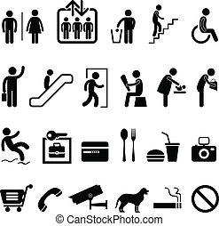 icona, centro commerciale, segno, pubblico
