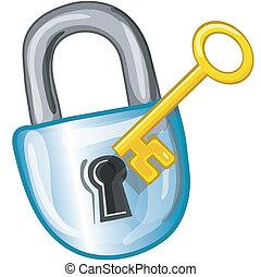 icona chiave, serratura