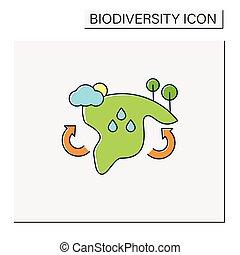 icona, colorare, biome