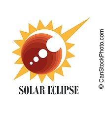 icona, eclissi, solare