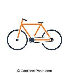 icona, ecologico, bicicletta