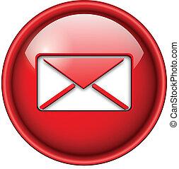 icona, email, posta, button.
