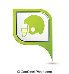 icona, football, americano, puntatore