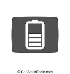 icona, grigio, vettore, icona chiave